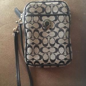 Vintage Coach Cell Phone Case Original Design Gray